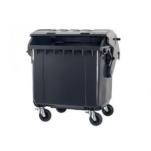 Контейнер для мусора 1100 л C круглой крышкой (black)