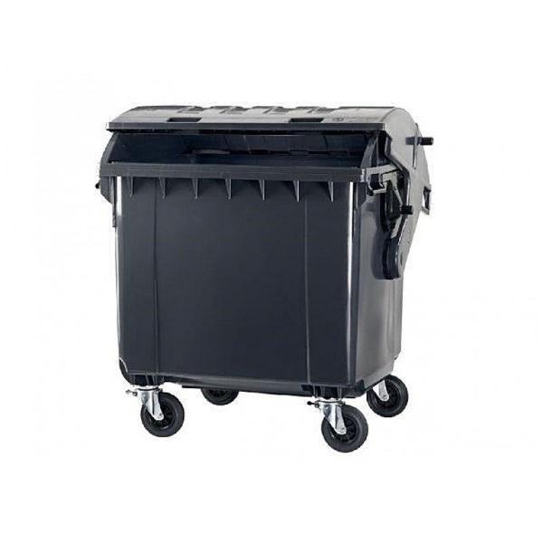 Container pentru gunoi 1100 l capac rotund black