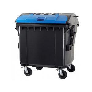 Контейнер для мусора 1100 л C двойной крышкой (black)