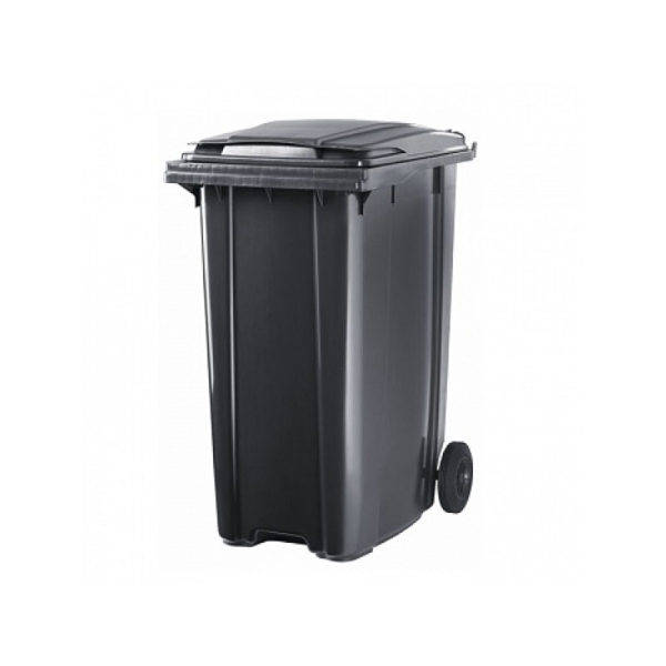 Container pentru gunoi cu roti 120 l black