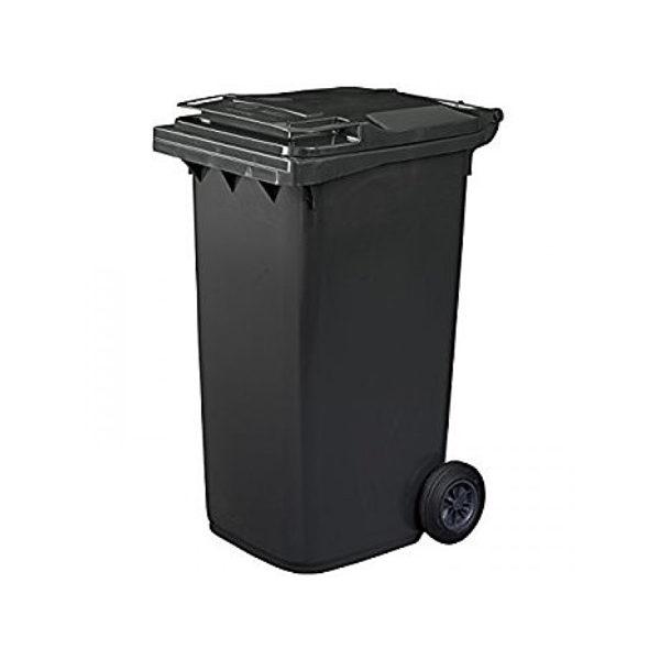 Container pentru gunoi cu roti EU 120 l black