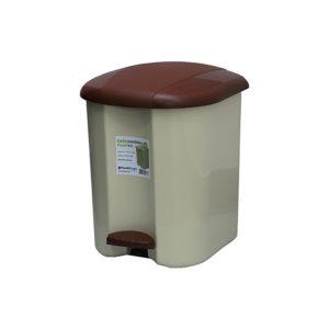 Ведро для мусора с педалью Plastic Gogic 17 л (бежевый/коричнев.)