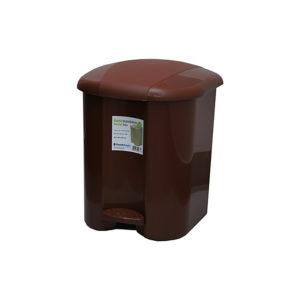 Ведро для мусора с педалью Plastic Gogic 17 л (коричнев.)