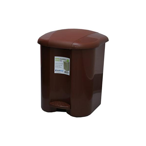 Urna pentru gunoi cu pedala Plastic Gogic 17 l (maro)