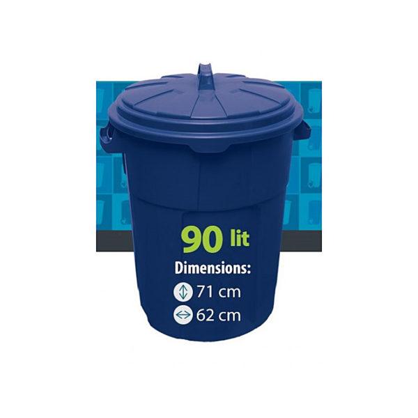 Urna rotunda 90 L (albastru)