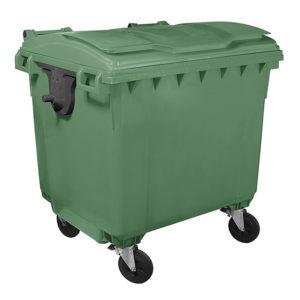 Евроконтейнер для мусора 1100 л (green)
