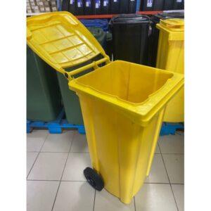 Container Dlea Musora S Kolesami Eu 120 L Yellow 1