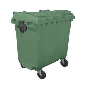 Евроконтейнер для мусора 770 л (green)