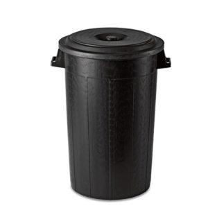 Urna Rotunda 120 L (negru) Italia