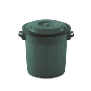 Круглая урна для мусора 50 Л (Зеленая, Италия)
