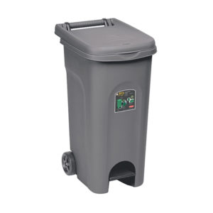 Урны для перевозки мусора, с педалью (80 Л, цвет гри )