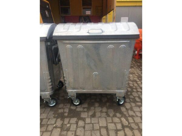 Ocinkovannyj kontejner s krugloj kryshkoj, obyem 1100L EU 1