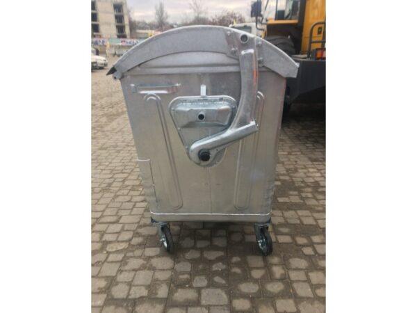 Ocinkovannyj kontejner s krugloj kryshkoj, obyem 1100L EU 2