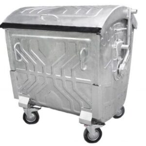 Оцинкованный контейнер с круглой крышкой, объем 1100Л EU