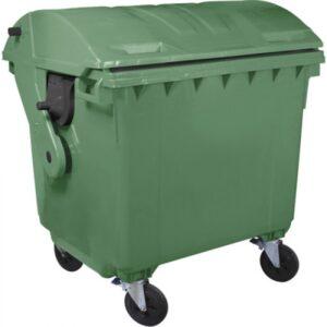 Контейнер для мусора 1100 л (круглая крышка) (зеленый)