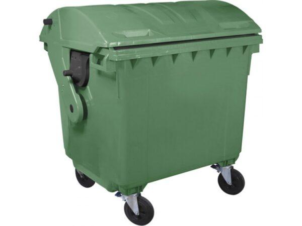 Kontejner dlya musora 1100 l (kruglaya kryshka) (zelenyj) 1