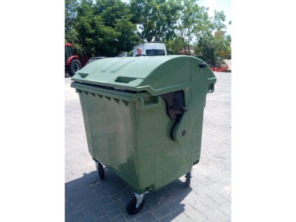 Kontejner dlya musora 1100 l (kruglaya kryshka) (zelenyj) 5