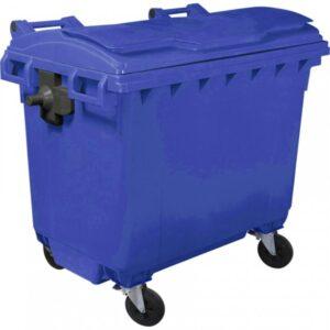 Пластиковый мусорный контейнер объем 660 Литров