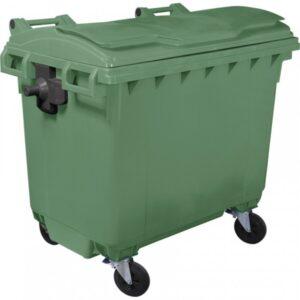 Пластиковый мусорный контейнер объем 660 Литров (green)