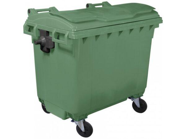 Plastikovyj musornyj kontejner obiem 660 Litrov green 1