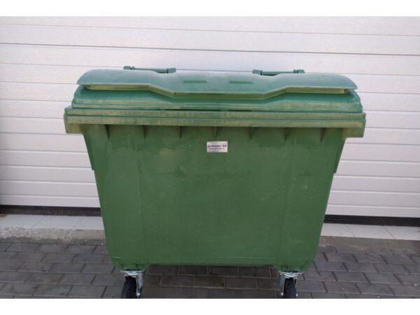 Plastikovyj musornyj kontejner obiem 660 Litrov green 2