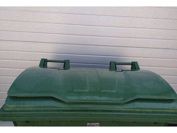 Plastikovyj musornyj kontejner obiem 660 Litrov green 3