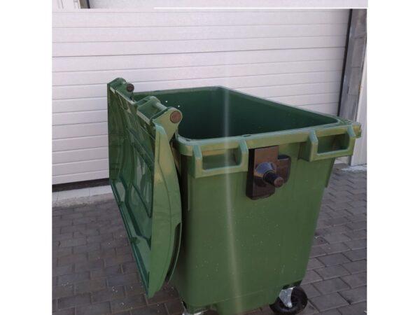 Plastikovyj musornyj kontejner obiem 660 Litrov green 4