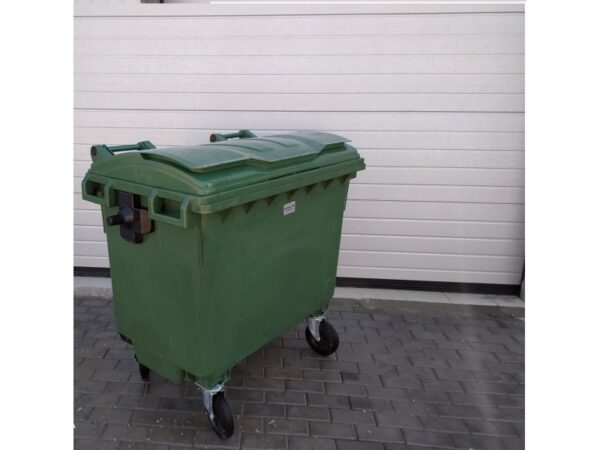 Plastikovyj musornyj kontejner obiem 660 Litrov green 5