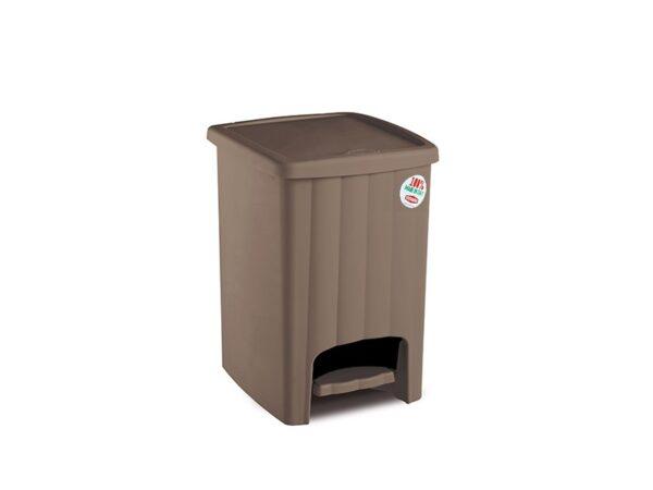 Plastikovaya urna s pedalyu 20 l (korichnevaya) 1
