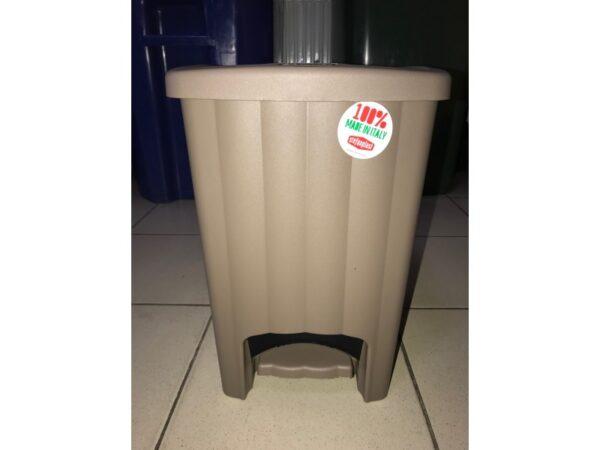 Plastikovaya urna s pedalyu 20 l (korichnevaya) 2