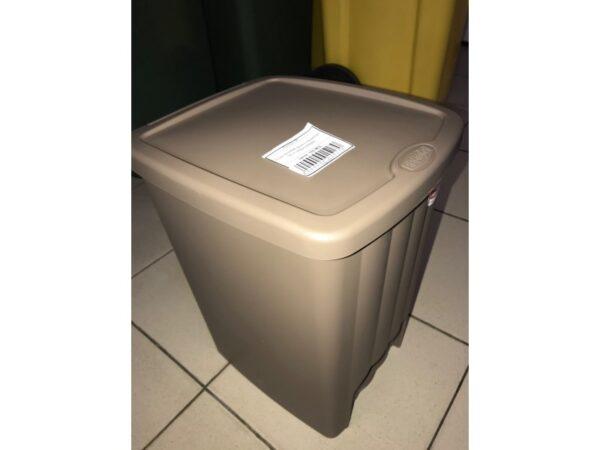 Plastikovaya urna s pedalyu 20 l (korichnevaya) 3