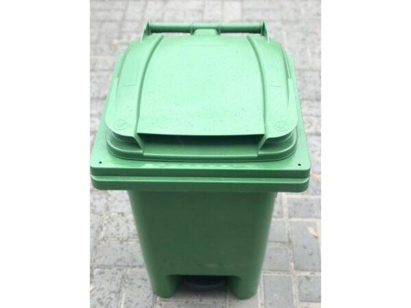 Musornyj bak s pedaliyu 60l (zelenyj) EU 04