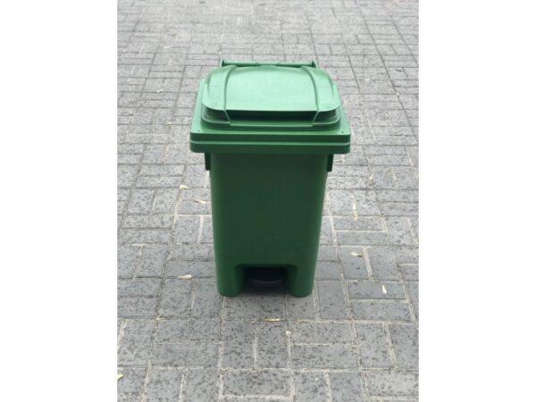 Musornyj bak s pedaliyu 80l (zelenyj) EU 01